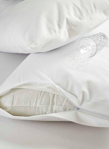 Eponj Home Yastık Alezi 2li Sıvı Geçirmez 50x70cm  Beyaz